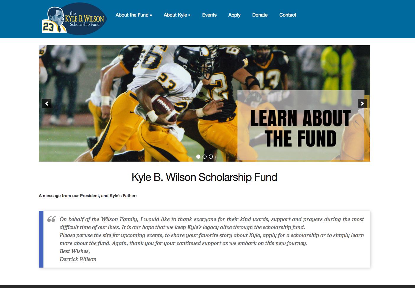 Kyle Wilson Scholarship Fund